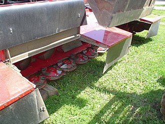 Mower - Rotary cutters mounted on a swather