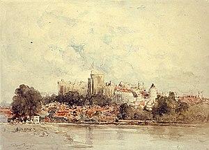 Gilbert Munger - Gilbert Munger, watercolor of Windsor Castle, ca. 1877-1880.