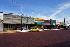 Wolfe City, Texas - Main Street in October 2015