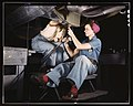 Women at work on bomber, Douglas Aircraft Company, Long Beach, Calif. (LOC) - Flickr - The Library of Congress.jpg