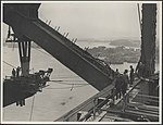 Workmen on on the northern bridge spans, 1931 (8283763798).jpg
