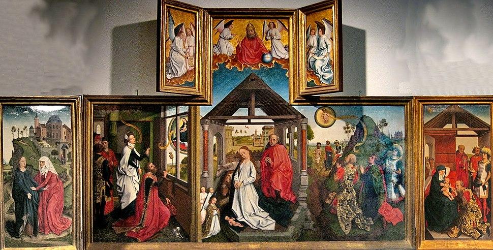 Workshop of Rogier van der Weyden - Polyptych with the Nativity, mid-15th century, Metropolitan Museum of Art