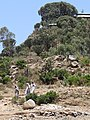 Worshippers Descend from Debre Liqanos Monastery - Outside Axum (Aksum) - Ethiopia (8703760887).jpg
