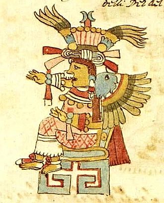 Xōchiquetzal - Xochiquetzal, from the Codex Rios, 16th century.