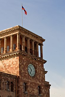 Yerevan Republic Square clock tower.jpg