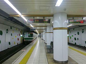 Yoyogi-koen Station - The platforms in January 2016