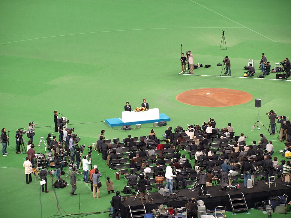 Yu Darvish press conference 2012 (1)