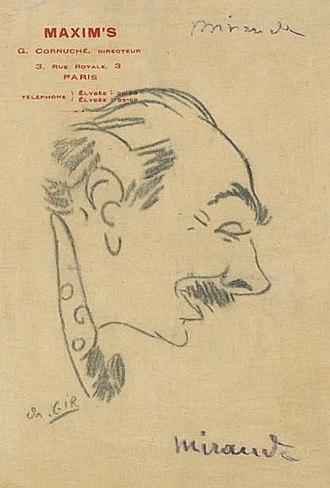 Yves Mirande - Caricature of Yves Mirande by Charles Gir