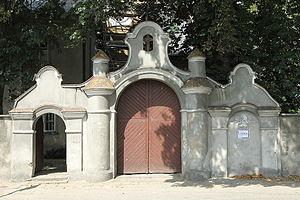 Złoczew - Entrance gate to the Monastery