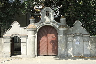 Złoczew - Entrance gate to the Monastery