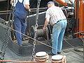 Zelflosinstallatie Zandlier met koppeling en voetrem.JPG