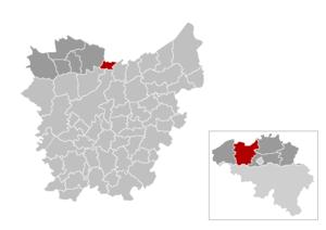 Zelzate - Image: Zelzate Location