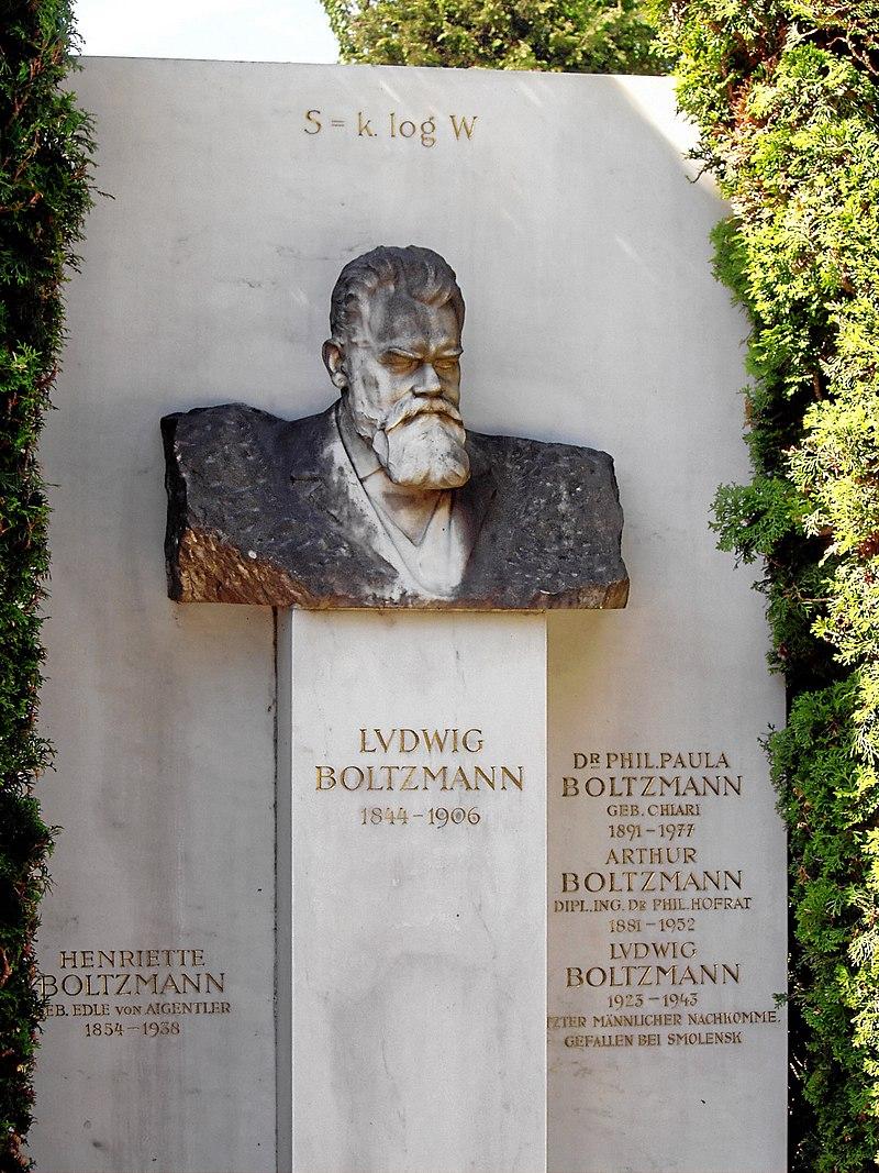 Фотография могилы Людвига Больцмана