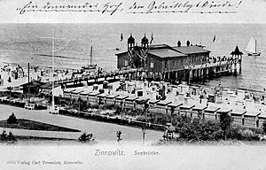Zinnowitz - The historic pier of Zinnowitz, 1906