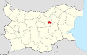 Zlataritsa Municipality - Image: Zlataritsa Municipality Within Bulgaria