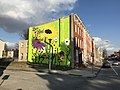 """Bee Kind"" Community Art Grant mural (2019; Renz Balagtas, artist), 924 E. Biddle Street, Baltimore, MD 21202 (49242969068).jpg"