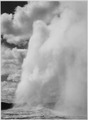 """Old Faithful, Yellowstone National Park,"" Wyoming. (Vertical orientation), 1933 - 1942 - NARA - 519999.tif"