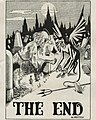"""THE END"" art detail, University of Georgia yearbook Pandora volume XXXIII 1920 (page 349 crop).jpg"