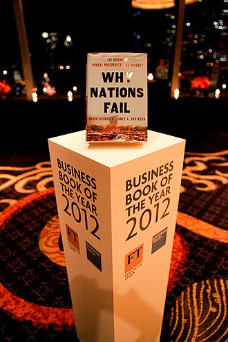 Daron Acemoglu - Why Nations Fail was included in the Shortlist of the 2012 Financial Times Business Book of the Year Award.
