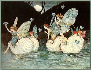 Ida Rentoul Outhwaite - 'Fairy Islands' from the book Elves and Fairies 1916 by Ida Rentoul Outhwaite