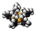 (2,4,6-Trimethylphenyl)gold complex spacefill.png