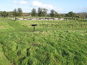 Milecastle 27 - The site of Turret 27A at Chesters Fort