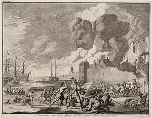 Capture of Brielle - The capture of Den Briel, by Jan Luyken
