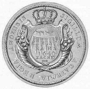 Royal Academy of Turku - The seal of the Royal Academy of Turku