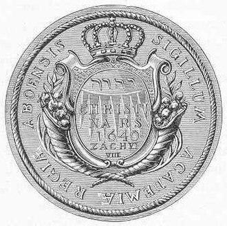 Royal Academy of Turku - Seal of the Royal Academy of Åbo