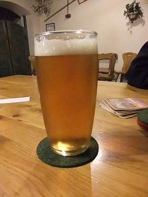 English: Lager beer 13° from the Czech minibre...