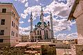 Казанский собор, на переднем плане Собор Спасо-Преображенский (руины), на дальнем - мечеть.,.jpg