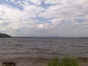 Kama Reservoir - View from the confluence area of the Chusovaya River.