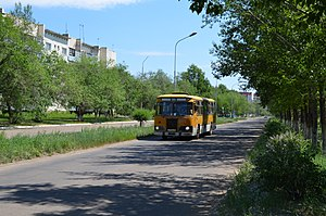 Krasnokamensk, Zabaykalsky Krai - A street in Krasnokamensk