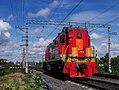 ТЭМ18В-035, Russia, Saint Petersburg, Dacha Dolgorukova station (Trainpix 133746).jpg