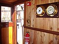 -2009-09-12 Wheel house, Lydia Eva Steam Drifter, South Quay, Great Yarmouth (2).JPG