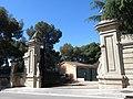 001 Castelldaura (Premià de Dalt), portal principal del recinte, cra. de Premià de Mar 1.jpg