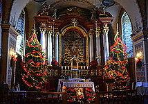 005 Weihnachtsaltar und Krippe in der Sanoker Franziskanerkirche, 2013