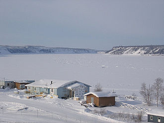 Fort Good Hope - Fort Good Hope looking across the Mackenzie River