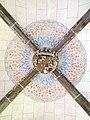 043 Sant Jeroni de la Murtra, clau de volta amb l'escut dels Reis Catòlics.JPG