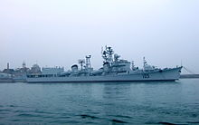 051 Guided missile destroyer Jinan in Qingdao Naval Museum 20080711.jpg