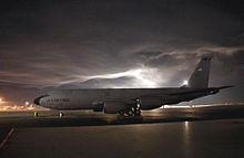 060225-f-6706g-001 KC-135 Stratotanker sits on the flightline at Manas Air Base