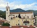 077 Santa Maria i Can Gili (Caldes d'Estrac), des del parc de Can Muntanyà.JPG