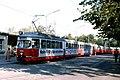 093L16030982 Eröffnung U Bahn Linie U1 bis Kagran, Kaisermühlen, Schüttauplatz, Endstelle Linie 22, Typ E1 4684.jpg