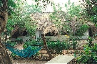 Janjanbureh, Gambia - Image: 1014219 Hut at the Jangjangbureh Camp The Gambia