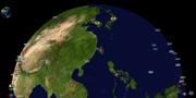 台湾海峡(从南海往东海视角,再往日本海及黄海)