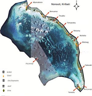 Nonouti - Map of Nonouti