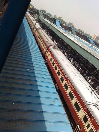 Bilaspur Rajdhani Express - 12442 Bilaspur Rajdhani Express at New Delhi