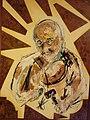 139 Fc Portrait de Pierre Beuchey 1999 80 x 120 cm Acrylique pastel, plaquage loupe d'orme Pierre B.jpg