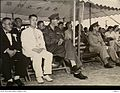 148010 Guests of honour at the Hiroshima Peace Festival. Brigadier R. H. Batten, In-Charge of Administration, British Commonwealth Forces, Korea (BCFK) sits beside Vice Mayor Takayama.JPG