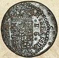 """16 maravedís de Felipe IV (1662) con """"ceca"""" de Sevilla Reverso.jpg"""